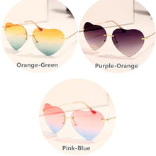 Load image into Gallery viewer, 3 Colors Gradient Heart Sun Glasses SP168620