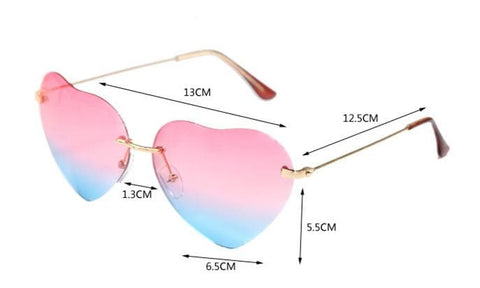 3 Colors Gradient Heart Sun Glasses SP168620