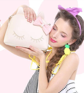 3 Colors I'm a Little Shy Cat Shoulder Bag SP153062 - SpreePicky  - 3