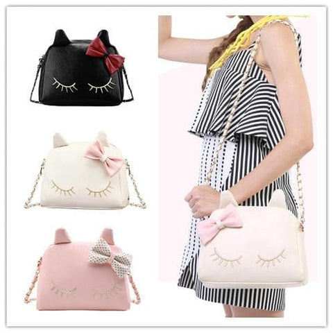 3 Colors I'm a Little Shy Cat Shoulder Bag SP153062