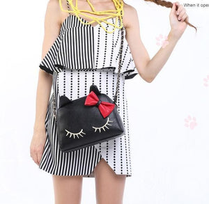 3 Colors I'm a Little Shy Cat Shoulder Bag SP153062 - SpreePicky  - 4