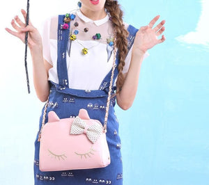 3 Colors I'm a Little Shy Cat Shoulder Bag SP153062 - SpreePicky  - 2