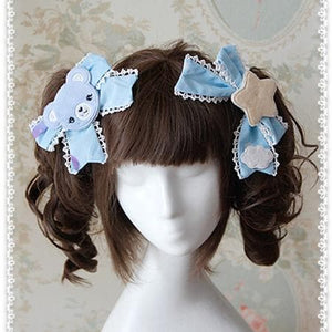 3 Colors [Infanta] Lolita Candy Bears Hair Clip One Pair SP152084 - SpreePicky  - 2