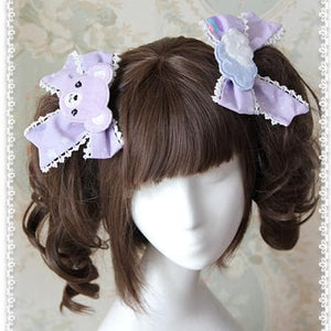 3 Colors [Infanta] Lolita Candy Bears Hair Clip One Pair SP152084 - SpreePicky  - 3