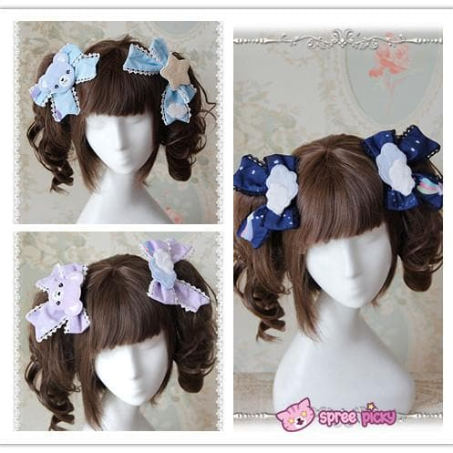 3 Colors [Infanta] Lolita Candy Bears Hair Clip One Pair SP152084 - SpreePicky  - 1