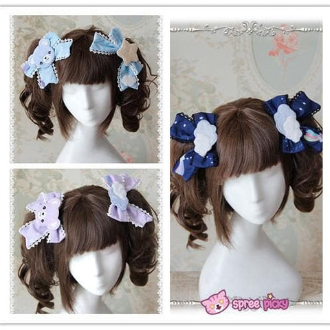 3 Colors [Infanta] Lolita Candy Bears Hair Clip One Pair SP152084