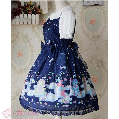 S-XL 3 Colors [Infanta] Lolita Candy Bears JSK Dress SP152081 - SpreePicky  - 6