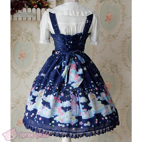 S-XL 3 Colors [Infanta] Lolita Candy Bears JSK Dress SP152081 - SpreePicky  - 7