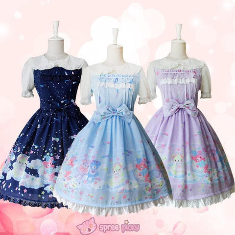 S-XL 3 Colors [Infanta] Lolita Candy Bears JSK Dress SP152081 - SpreePicky  - 1