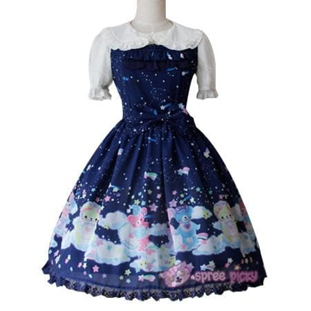 S-XL 3 Colors [Infanta] Lolita Candy Bears JSK Dress SP152081 - SpreePicky  - 2