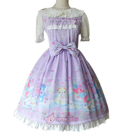 S-XL 3 Colors [Infanta] Lolita Candy Bears JSK Dress SP152081 - SpreePicky  - 3