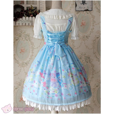 S-XL 3 Colors [Infanta] Lolita Candy Bears JSK Dress SP152081 - SpreePicky  - 5
