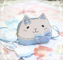 Load image into Gallery viewer, 3 Colors Kawaii Neko Cat Bow Crossbody Bag SP178858