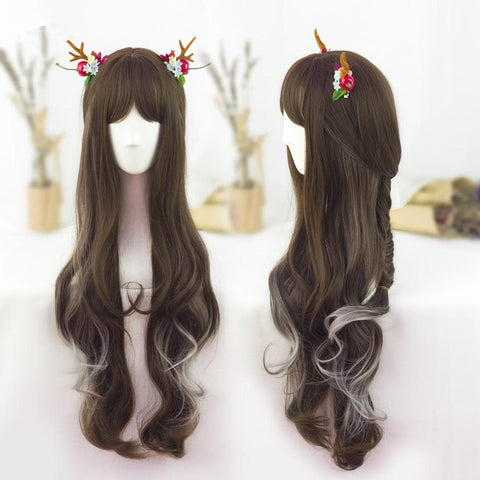 3 Colors Lolita Gradual Change Long Curly Wig SP178720