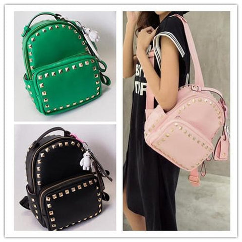 3 Colors Macaron Rivet Small Size Backpack SP152024 - SpreePicky  - 2
