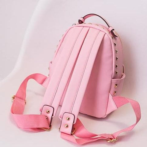 3 Colors Macaron Rivet Small Size Backpack SP152024 - SpreePicky  - 4