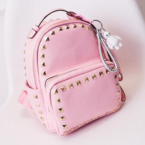 3 Colors Macaron Rivet Small Size Backpack SP152024 - SpreePicky  - 3