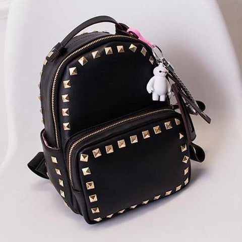 3 Colors Macaron Rivet Small Size Backpack SP152024 - SpreePicky  - 9