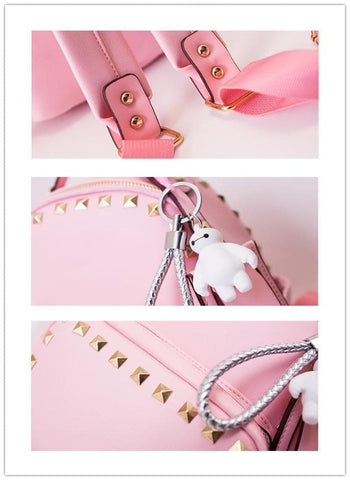3 Colors Macaron Rivet Small Size Backpack SP152024 - SpreePicky  - 6