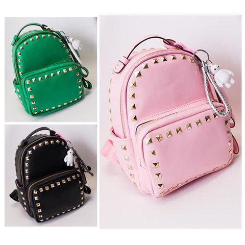 3 Colors Macaron Rivet Small Size Backpack SP152024