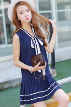 Load image into Gallery viewer, 3 Colors Mori Girl Bowknot Sleeveless Sailor Dress SP152630 - SpreePicky  - 3