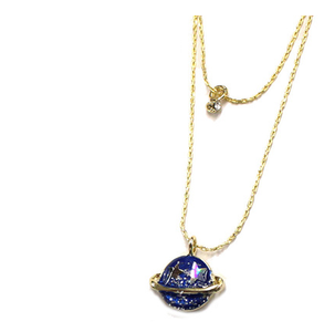 Pink/Navy/Yellow My Little Universe Planet Necklace SP152374 - SpreePicky FreeShipping