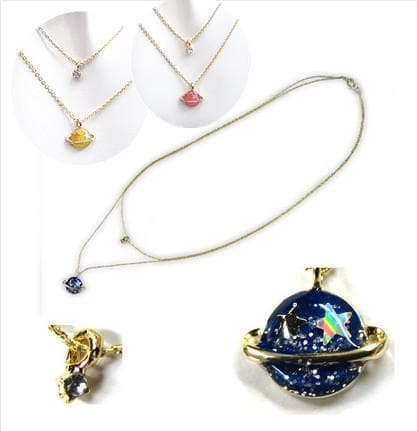 3 Colors My Little Universe Double Necklace SP152374 - SpreePicky  - 1