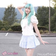 Load image into Gallery viewer, 3 Colors Sailor Moon Bubble Short Sleeve Bow Lace Shirt Top SP140946 - SpreePicky  - 4
