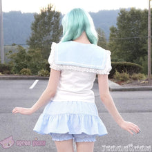 Load image into Gallery viewer, 3 Colors Sailor Moon Bubble Short Sleeve Bow Lace Shirt Top SP140946 - SpreePicky  - 5