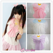 Load image into Gallery viewer, 3 Colors Sailor Moon Bubble Short Sleeve Bow Lace Shirt Top SP140946 - SpreePicky  - 1