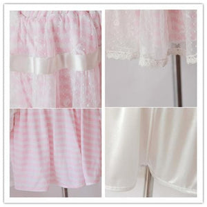 3 Colors Sailor Stripes Lace Pant-Skirt SP140970 - SpreePicky  - 5