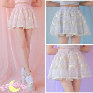 3 Colors Sailor Stripes Lace Pant-Skirt SP140970 - SpreePicky  - 1