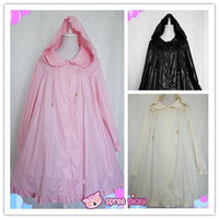 [Chess Story]3 Colors Sweet Rainbow Lolita Rain Coat with Removable Hat SP151859 - SpreePicky  - 1