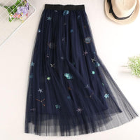 3 Colors Sweet Swan/Space/Pegasus/Plume Gauze Skirt S12674