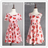S/M/L 3 Colors Sweet Sweet Strawberry OP/JSK Dress SP152247 - SpreePicky  - 2