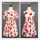 S/M/L 3 Colors Sweet Sweet Strawberry OP/JSK Dress SP152247 - SpreePicky  - 4