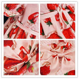 S/M/L 3 Colors Sweet Sweet Strawberry OP/JSK Dress SP152247 - SpreePicky  - 6