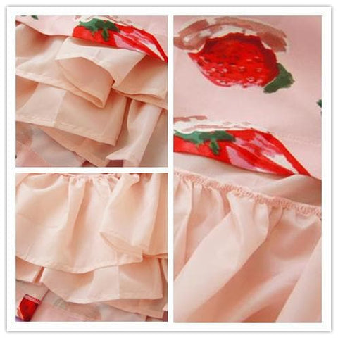 S/M/L 3 Colors Sweet Sweet Strawberry OP/JSK Dress SP152247 - SpreePicky  - 7