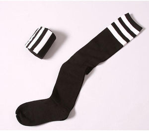 8 Colors Stripes Thigh High Over Knee Socks SP153576 - SpreePicky  - 15