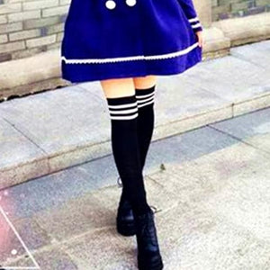 8 Colors Stripes Thigh High Over Knee Socks SP153576 - SpreePicky  - 5