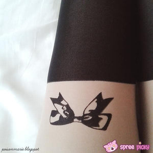 [3 for 2] Little Bow Fake Over Knee Thigh High Tights SP140915 - SpreePicky  - 4
