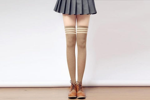 [3 for 2] Taller Girls! 8 Colors Stripes Thigh High Long Socks SP153727 - SpreePicky  - 5