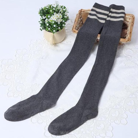 [3 for 2] Taller Girls! 8 Colors Stripes Thigh High Long Socks SP153727 - SpreePicky  - 10