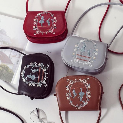 4 Colors Alice Embroidery Cross Body Purse SP179898