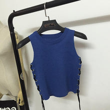 Load image into Gallery viewer, 4 Colors Bandage Knit Vest SP179055