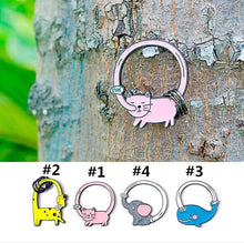 Load image into Gallery viewer, 4 Colors Cute Cartoon Animal Key Chain SP1811876