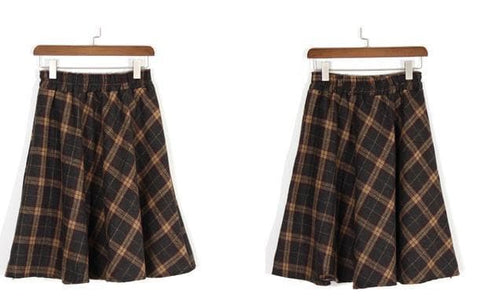 4 Colors England Grids Skirt SP154145 - SpreePicky  - 14