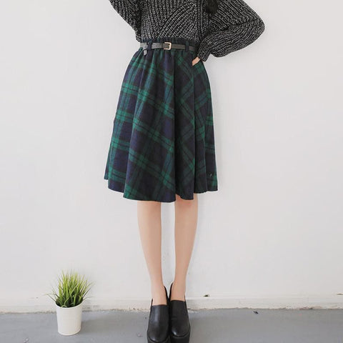4 Colors England Grids Skirt SP154145 - SpreePicky  - 6