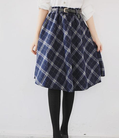 4 Colors England Grids Skirt SP154145 - SpreePicky  - 5