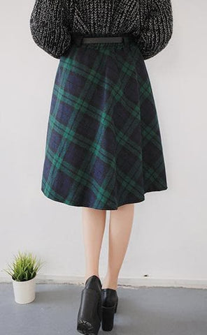 4 Colors England Grids Skirt SP154145 - SpreePicky  - 7